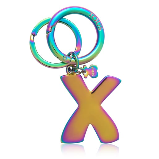 Iridescent Touscedario Letter X Key ring