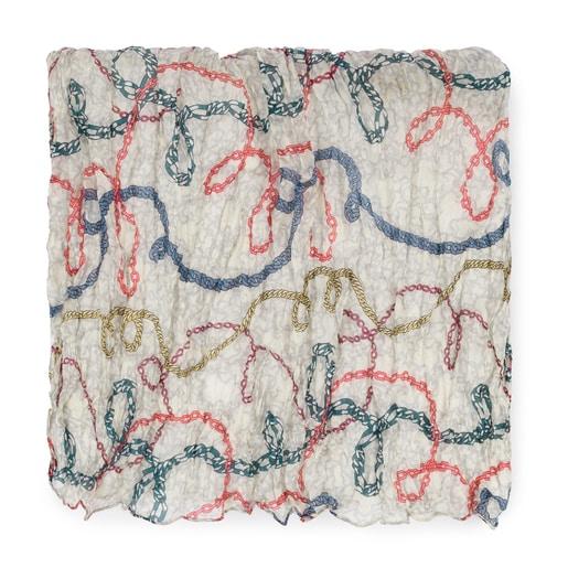 Foulard Kaos Mini Cadenas Plis multicolor