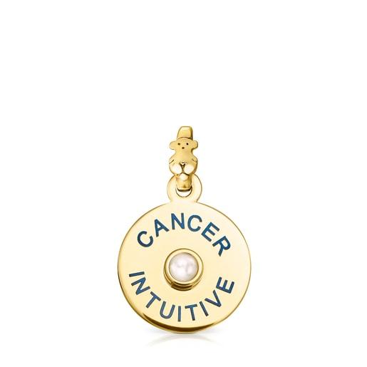 Μενταγιόν TOUS Ζώδιο Καρκίνος από Ασήμι Vermeil με Μαργαριτάρι