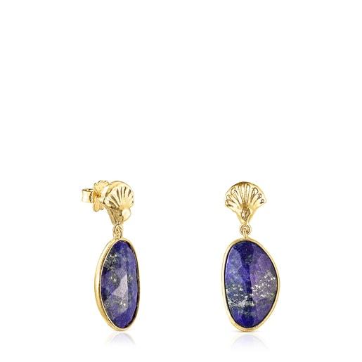 Ohrringe Oceaan Color aus Vermeil-Silber mit Lapislazuli
