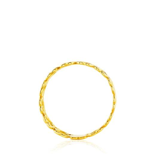 Anillo de oro motivos oso Silueta