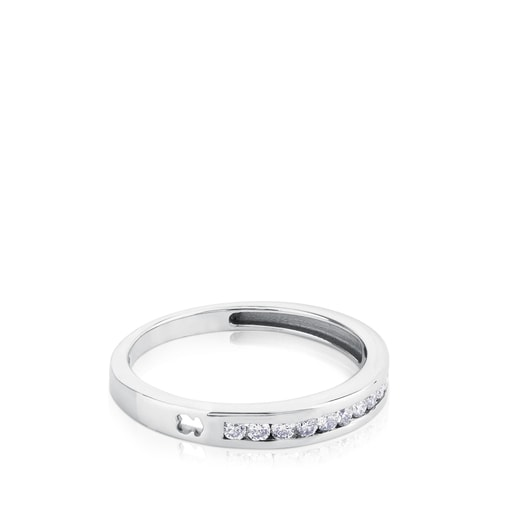 White Gold TOUS Les Classiques Ring with Diamonds 0,18ct