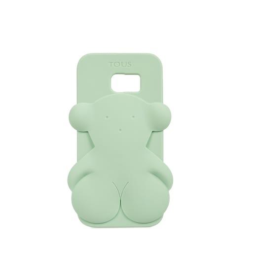 Funda de móvil Samsung Galaxy S7 Edge Rubber Bear en color verde