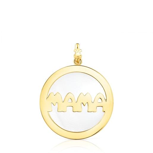 Large Silver Vermeil TOUS Mama Pendant