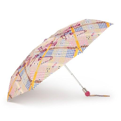 Paraguas plegable Tile Exene beige