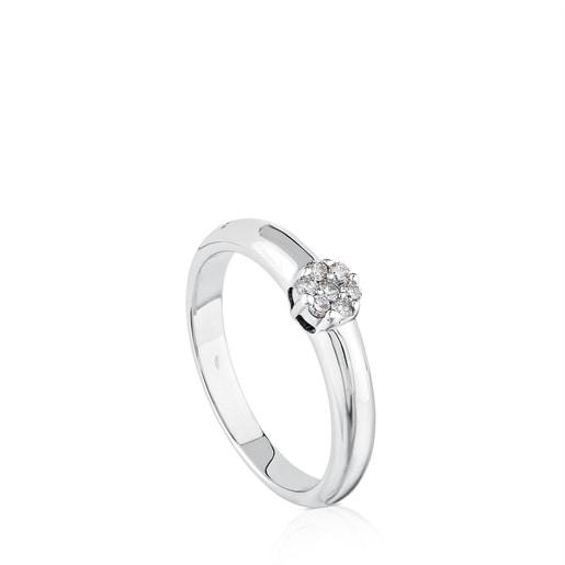 White Gold TOUS Diamonds Ring with Diamonds 0.10ct