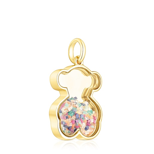 Silver vermeil Areia Pendant with multicolored gemstones
