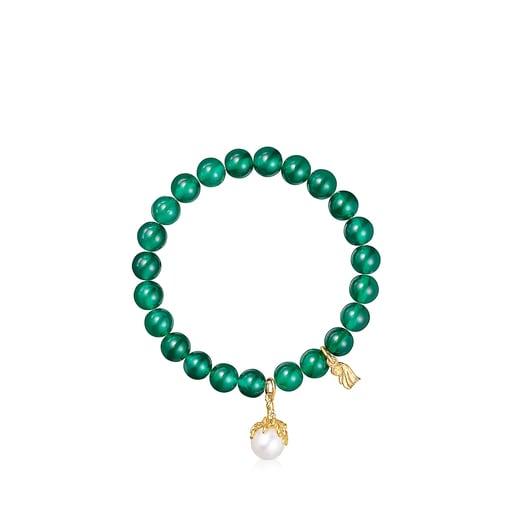 Pulsera de crisoprasas y perla Oceaan Color