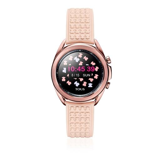 Montre Samsung Galaxy Watch3 X TOUS en acier IP bronze avec bracelet en silicone nude