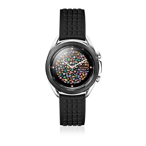 Samsung Galaxy Watch3 für TOUS aus IP-Stahl in Schwarz mit schwarzem Silikon-Armband