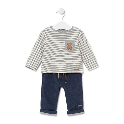 Conjunto de camiseta y pantalón Blue Azul Marino