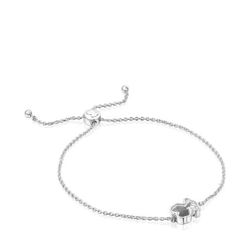 Bracelet Areia en argent et onyx