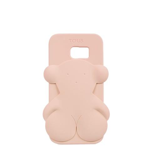 Funda de móvil Samsung Galaxy S7 Edge Rubber Bear en color rosa
