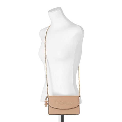 Small taupe T Pop Crossbody bag