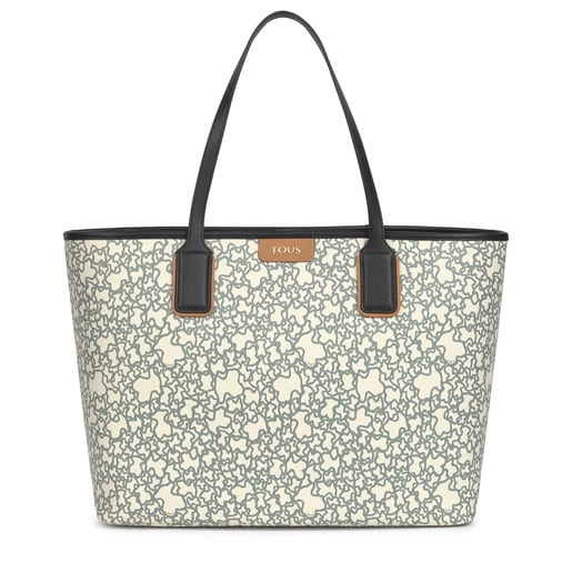 Large black and beige Kaos Mini Tote bag with toiletry bag