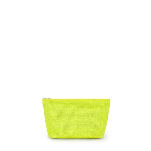 Kleine Handtasche Kaos Shock Sequins in Neongelb