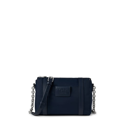 Small navy blue Empire Soft Chain Crossbody bag