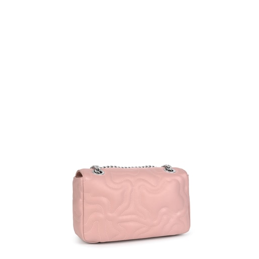 Small pink Kaos Dream Crossbody bag with a flap