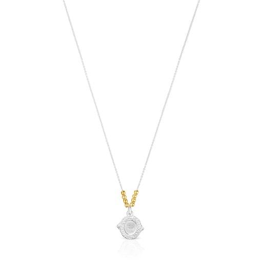 Zweifarbige Oceaan Kamee-Halskette