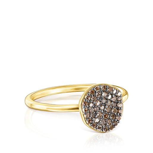 Anell petitNenufarde platavermeili diamants