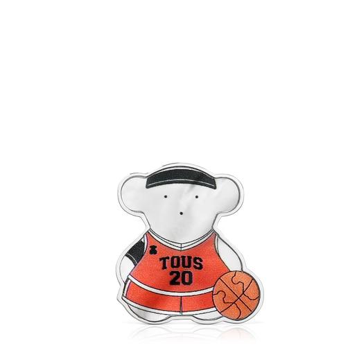 ピンブローチ  SPORTS  くま  バスケットボール