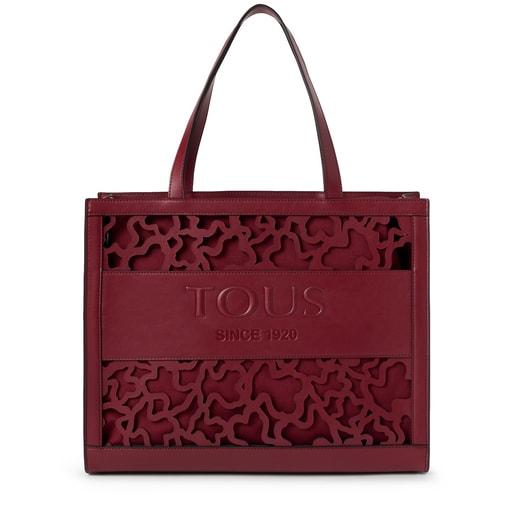 Large shopping bag Amaya Kaos Shock burgundy