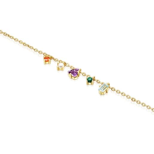 Bracelet TOUS Good Vibes en Argent vermeil et Pierres précieuses