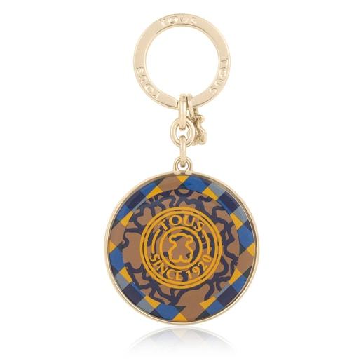 Yellow and blue Kaos Stamp Key ring