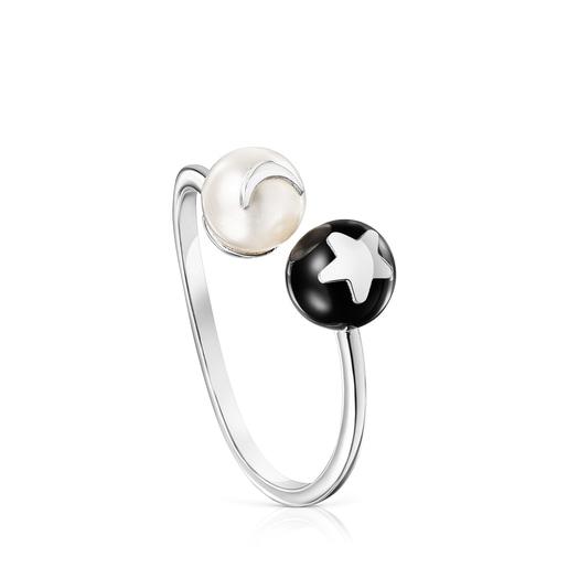 Magic Nature moon-star open Ring