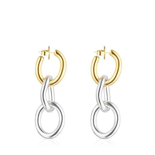 Pendientes anillas Hav XL bicolor