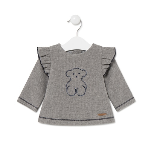 Camiseta oso Blue Gris