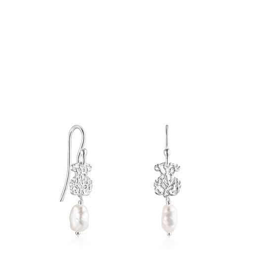 Pendientes de plata y perlas Oceaan