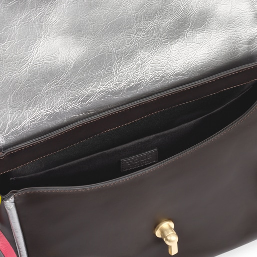 Small grey Bridgy Textil crossbody bag
