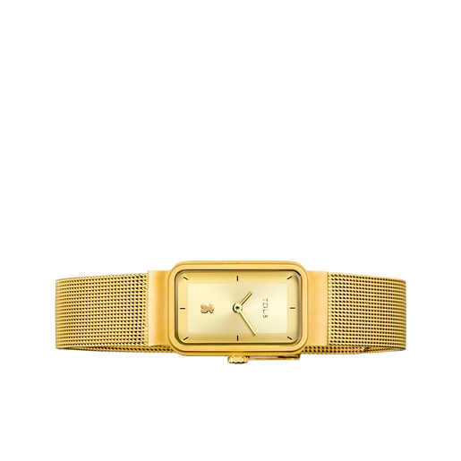 Ρολόι Squared Mesh από Επιχρυσωμένο Ατσάλι