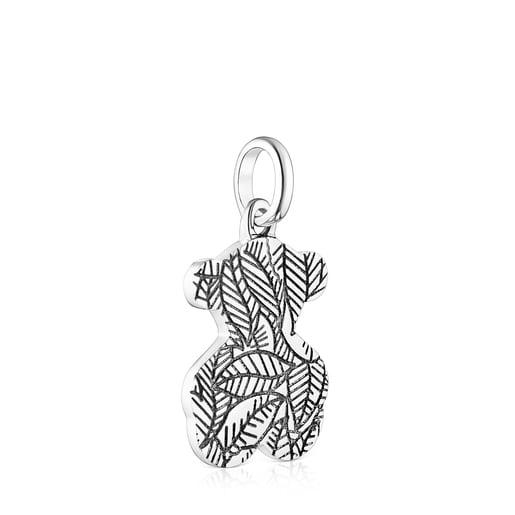 Small oxidized Silver Fragile Nature Pendant