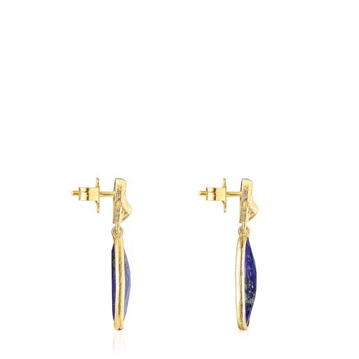 Σκουλαρίκια Oceaan Color από ασήμι vermeil με λάπις λάζουλι