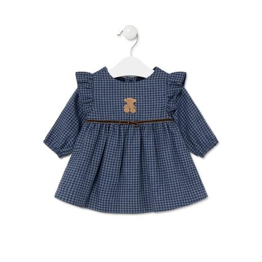 Vestido a cuadros Blue Azul Marino