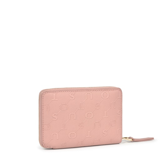 Small pink Script Day wallet