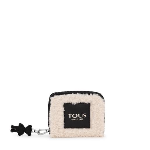 Medium beige Amaya Warm Change purse