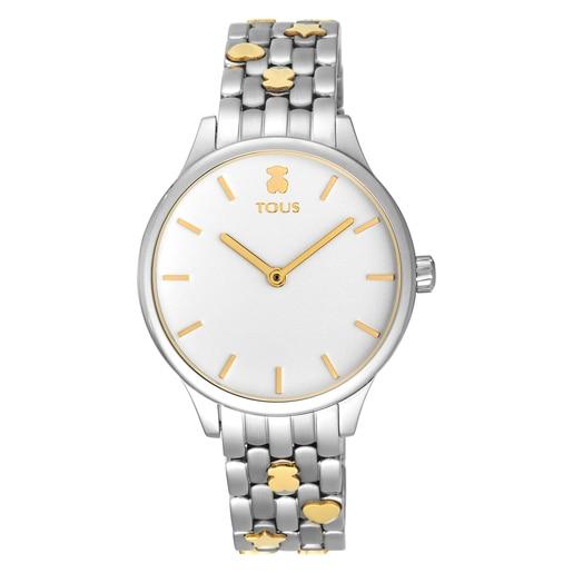 Reloj Mini Icon bicolor acero/IP dorado