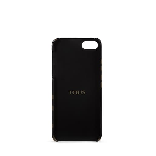 Funda de móvil iPhone 5 Kaos en color negro-camel