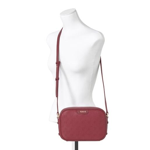 Burgundy Script Day shoulder bag