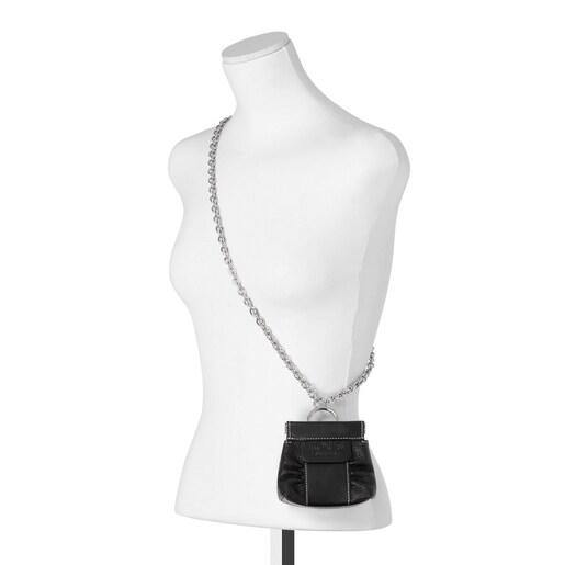 Mini black leather TOUS Empire One-shoulder bag