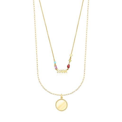 Mama Minne medallion Necklace set