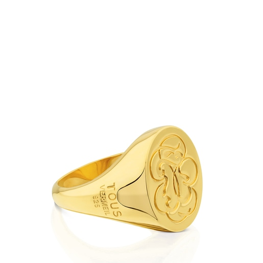 Vermeil Silver Rubric Ring