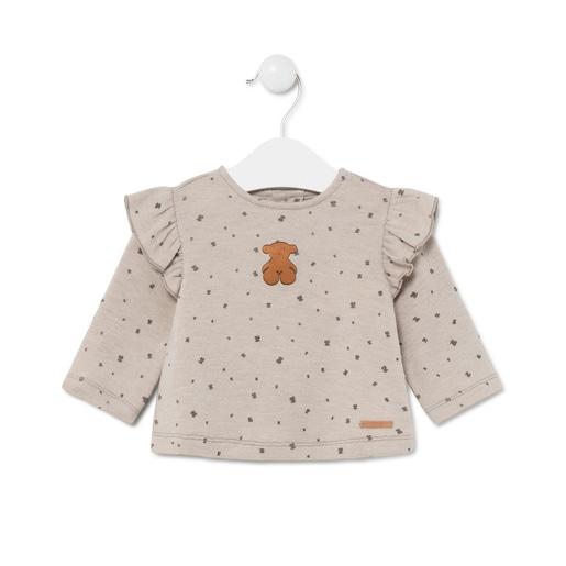 Camiseta microestampada Brown Marrón