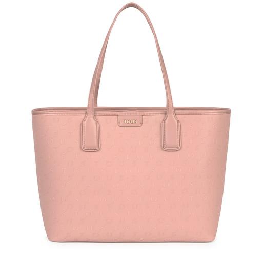 Large pink Script Day tote bag