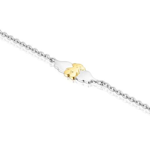 Bracelet Fragile Nature en Acier/IP doré