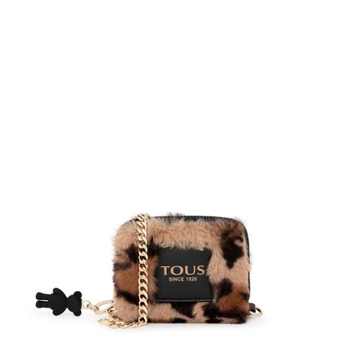 Medium beige and black Amaya Wild Change purse