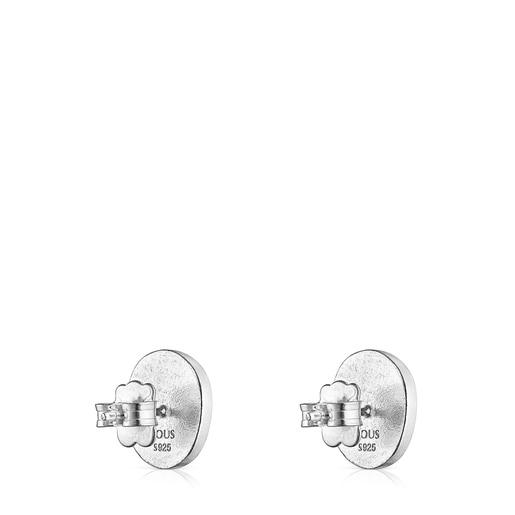Silver Oceaan Color cameo Earrings